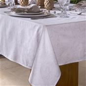 Toalha De Mesa Home Design Retangular 160X210cm Aura Branca Santista