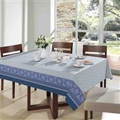 Toalha De Mesa Royal Quadrada 140X140cm Verona 1 Azul Santista
