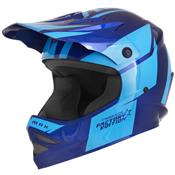 Capacete Cross Kids Factory Edition Azul Pro Tork