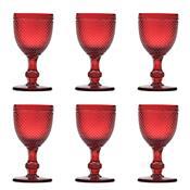 Jogo 6 Taças Vidro Para Vinho 130Ml Vermelha Bico De Jaca Bon Gourmet