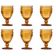 Jogo 6 Taças Vidro Para Água 340Ml Âmbar Aubusson Bon Gourmet