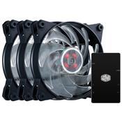 Fan Cooler Master Mfyb2dc133pcr1 120Mm Led Rgb 3 Peças Com Controlador