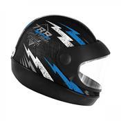 Capacete Super Sport Moto 788 Preto E Azul Pro Tork