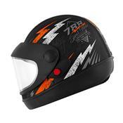 Capacete Super Sport Moto 788 Preto E Laranja Pro Tork