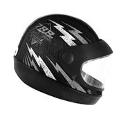 Capacete Super Sport Moto 788 Preto E Prata Pro Tork