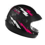 Capacete Super Sport Moto 788 Preto E Rosa Pro Tork