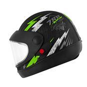 Capacete Super Sport Moto 788 Preto E Verde Pro Tork