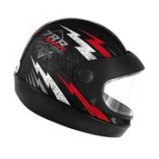 Capacete Super Sport Moto 788 Preto E Vermelho Pro Tork