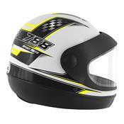 Capacete Super Sport Moto 788 Branco E Amarelo Pro Tork