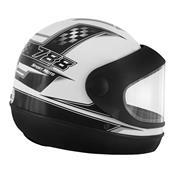 Capacete Super Sport Moto 788 Branco E Cinza Pro Tork