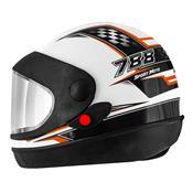 Capacete Super Sport Moto 788 Branco E Laranja Pro Tork