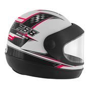 Capacete Super Sport Moto 788 Branco E Rosa Pro Tork