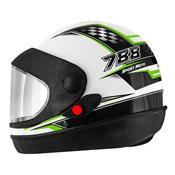 Capacete Super Sport Moto 788 Branco E Verde Pro Tork