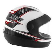 Capacete Super Sport Moto 788 Branco E Vermelho Pro Tork
