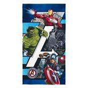 Toalha Avengers Aveludada Transfer 75X140cm Lepper