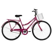 Bicicleta Aro 26 Ultra Bikes Summer Tropical V-Break Rosa