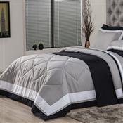 Edredom Solteiro Plumasul Soft Comfort 160X220cm Microfibra Cinza