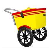 Carrinho De Picolé Thermototal T2001 54 Litros Amarelo E Vermelho