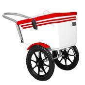 Carrinho De Picolé Thermototal T2001 54 Litros Branco E Vermelho