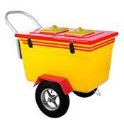Carrinho De Picolé Thermototal T500 130 Litros Amarelo E Vermelho