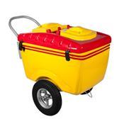 Carrinho De Picolé Thermototal T550 130 Litros Amarelo E Vermelho
