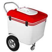 Carrinho De Picolé Thermototal T600 165 Litros Branco E Vermelho