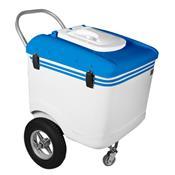 Carrinho De Picolé Thermototal T600 165 Litros Branco E Azul