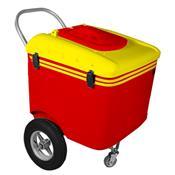 Carrinho De Picolé Thermototal T600 165 Litros Vermelho E Amarelo