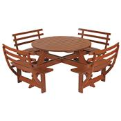 Mesa Com Assentos Tramontina 10928/076 Garden 8 Lugares Madeira