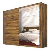Guarda Roupa Com 4 Espelhos Zanzini Essencial 2 Portas Canela