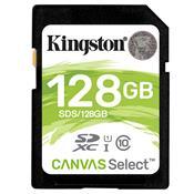 Cartão De Memória Sd Kingston Canvas Select Classe 10 128Gb Sds/128Gb
