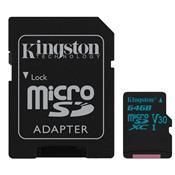 Cartão De Memória Micro Sd Kingston Sdxc/64Gb Classe 10 64Gb