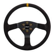 Volante Esportivo Lowv R Spak 35 Cm Preto E Amarelo