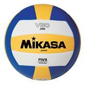 Bola De Voleibol Mikasa Vso2000 Branca Azul E Amarela
