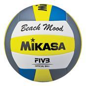 Bola Para Voleibol De Praia Mikasa Vxs-Bmd-G2 Branca Azul E Amarela
