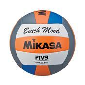 Bola Para Volei De Praia Mikasa Vxs-Bmd-O Laranja Azul E Branca