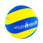 Bola De Voleibol Infantil Mikasa Skv5 Azul E Amarelo