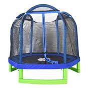 Cama Elástica Happy Kids Trampolim Jump 2.13M Azul/Verde/Preto