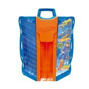 Maleta Porta Carrinhos Hot Wheels Fun Com Lançador Azul