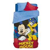Coberdrom Fleece Infantil Lepper Mickey Dupla Face Estampado Azul