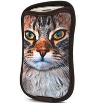 Capa para Smartphone e iPhone com Porta Cartão Gato Reliza