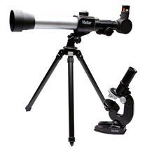 Kit Infantil Telescópio E Microscópio Vivtelmic20 Vivitar