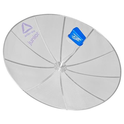 Refletor Parabólico C/1 Antena 1,50 Junior 8 Telas Prata Albrax