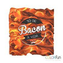Mouse Pad Neoprene Com Decoração Bacon Colorfun Reliza