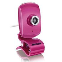 Webcam Facelook com Microfone Usb Rosa WC048 Multilaser