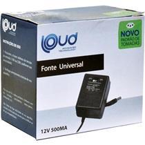 Fonte Universal 12V 500Ma 9W 1,5M Loud