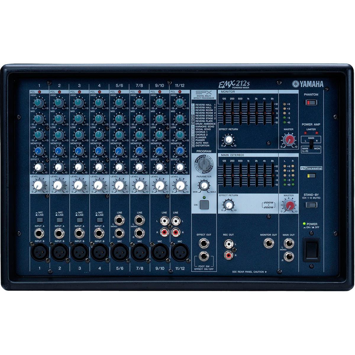 Mesa De Som 440W 12 Canais Emx212s Yamaha