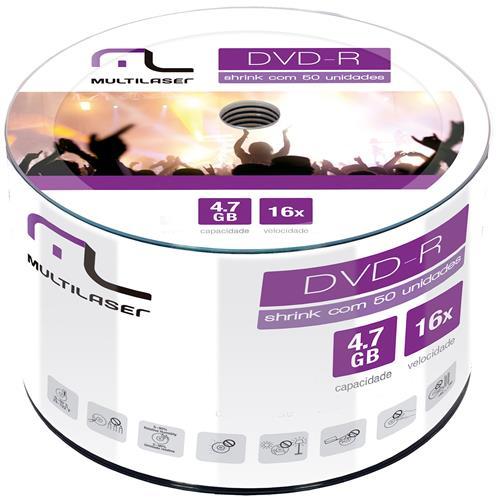 Dvd-R 4.7 Gb Velocidade Gravação 16X Dv060 Multilaser