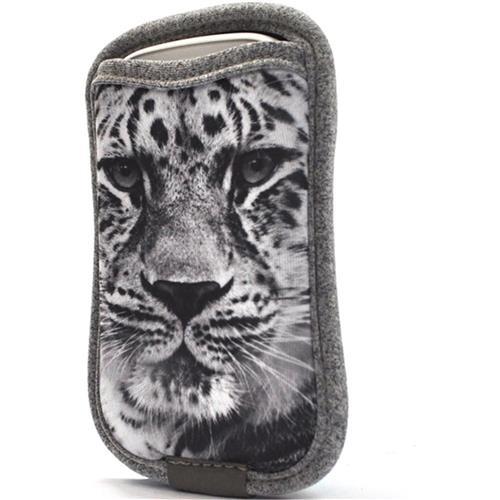 Case Para Smartphone Com Porta Cartão Leopardo Reliza