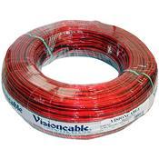 Cabo Cristal 2X20 0.50 Mm 100 Metros Vermelho Vision Cable